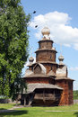 Orthodox wooden church in the museum of architecture suzdal russia Royalty Free Stock Images