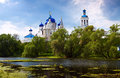Orthodoxy monastery at bogolyubovo in summer day russia Royalty Free Stock Photos