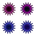 Orthomyxovirus Cell Design Royalty Free Stock Photos