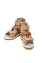Orthopedic shoes for children s sandals figure correction and feet Stock Photos