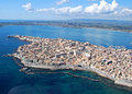 Ortigia from the sky Royalty Free Stock Photo