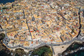 Ortigia syracuse sicily aerial view of island of Stock Photos