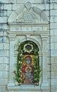 Ortodox bild för kyrklig grekisk kloster Arkivfoto