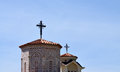 Ortodox church in prespa macedonia picture of st peter and paul village of podmochani Royalty Free Stock Images