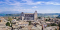 Orvieto Cathedral and aerial view Royalty Free Stock Photos