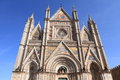 Orvieto cathedral medieval landmark in umbria italy Royalty Free Stock Photography
