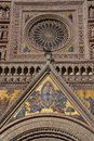Orvieto Dome Facade Mosaic Royalty Free Stock Photo