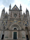 Orvieto duomo facade west front of the gothic of the cathedral designed by lorenzo maitani Royalty Free Stock Photo