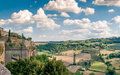 Orvieto fields view from the walls of Stock Photography