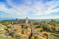 Orvieto medieval town and duomo cathedral church aerial view it landmark panoramic umbria italy europe Royalty Free Stock Photo