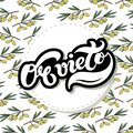 Orvieto. The Name Of The Italian City In The Region Of Umbria. Hand Drawn Lettering