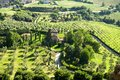 Orvieto settlement green garden under city Royalty Free Stock Photography
