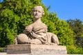Oryginału kamienny sfinks w yalta Zdjęcie Stock