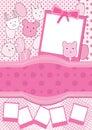 Os desenhos animados Balloons a foto cor-de-rosa Frame_eps Foto de Stock Royalty Free
