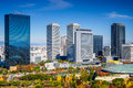Osaka business park japan cityscape at in the autumn Royalty Free Stock Photography