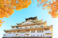 Osaka Castle in the autumn Royalty Free Stock Photo