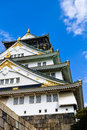 Osaka castle japan is a japanese in it is one of s most famous castles Royalty Free Stock Photo