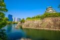 Osaka Castle and skyline Royalty Free Stock Photo