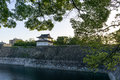 Osaka castle watch tower Royalty Free Stock Photo