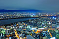 Osaka cityscape city skyline at night Royalty Free Stock Photos
