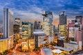 Osaka cityscape japan in umeda Royalty Free Stock Images