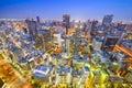 Osaka cityscape van japan Royalty-vrije Stock Foto's