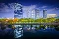 Osaka japan business park at night Royalty Free Stock Images