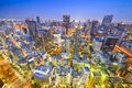 Osaka japan cityscape aerial view in umeda district Royalty Free Stock Photos