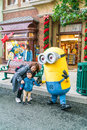 OSAKA, JAPAN - NOV 21 2016: Minion Mascot from Despicable Me in