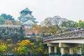 OSAKA, JAPAN - NOV 20 : Visitors crowded at Osaka Castle Park. I