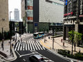 Osaka japan veiw at street in at august is capital city of prefecture and have million citizens Royalty Free Stock Photos
