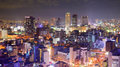 Osaka panorama japan nighttime skyline Royalty Free Stock Photography