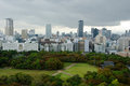 Osaka Skyline on a cloudy day Stock Photography