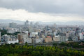 Osaka Skyline on a cloudy day Stock Photo