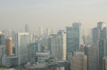 Osaka Skyline on a foggy day Royalty Free Stock Photography