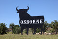 Osborne Bull in Spain Stock Photos
