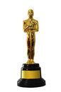 Oscar statue replica with space for text Stock Image