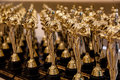 Oscar statues many rows of and nice and shiny Royalty Free Stock Photo