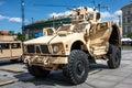 Oshkosh m atv mine resistant warsaw poland may ambush protected all terrain vehicle public celebrations of th anniversary of end Stock Photo