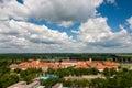 Osijek croatia aerial view of beautiful cityscape of city slavonia Royalty Free Stock Photo