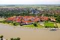 Osijek croatia aerial view of beautiful cityscape of city slavonia Stock Images