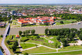 Osijek croatia aerial view of beautiful cityscape of city slavonia Stock Photo