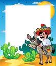 Osioł jazda ramowa meksykańska Zdjęcia Royalty Free