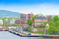Oslo and Akershus from the sea Oslo Norway horizontal Royalty Free Stock Photo