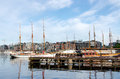 Oslo fjord aker brygge at sammer Royalty Free Stock Image