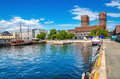 Oslo Harbour and City Hall, Fjord Norway Royalty Free Stock Photo