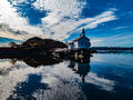Oslo Harbour Lighthouse Royalty Free Stock Photo