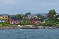 Oslo islands in the fjord Royalty Free Stock Photography