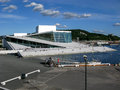 Oslo opera house in norway the at the oslofjord central scandinavia Stock Image