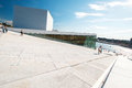 Oslo opera house pictured with angle norway august view on a side of the national on august in norway which was opened on april Royalty Free Stock Image